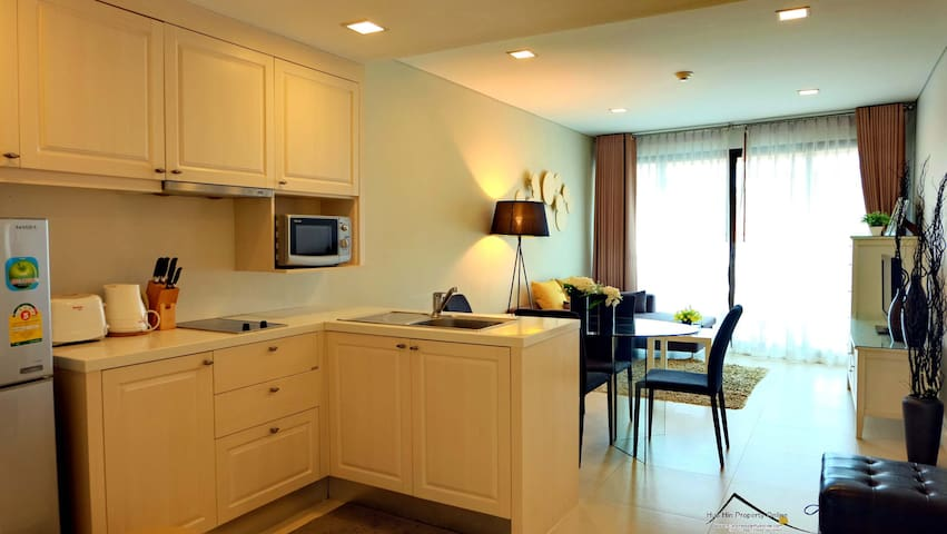 MRK7350 with pool view cozy room - ตำบล หัวหิน - Daire