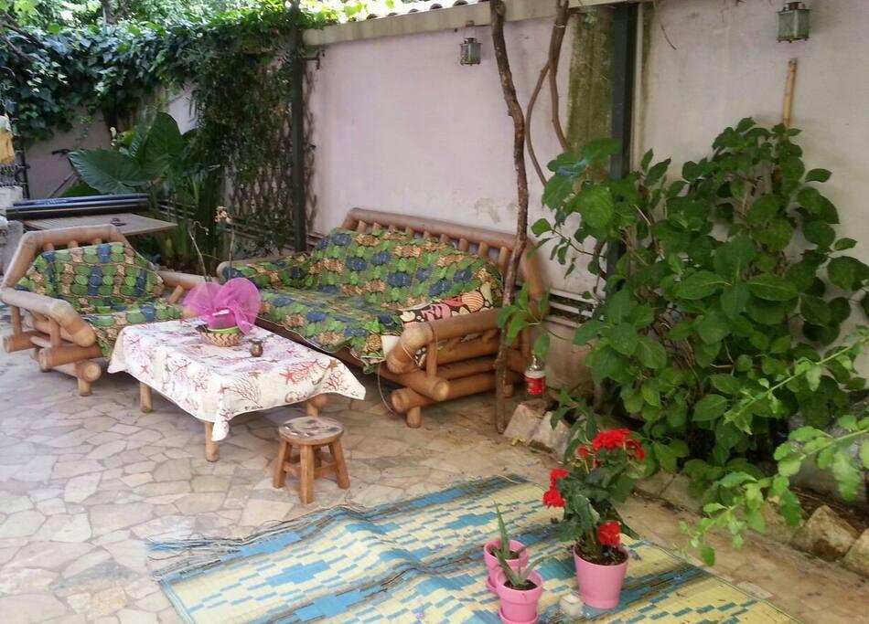 Private Garden outside