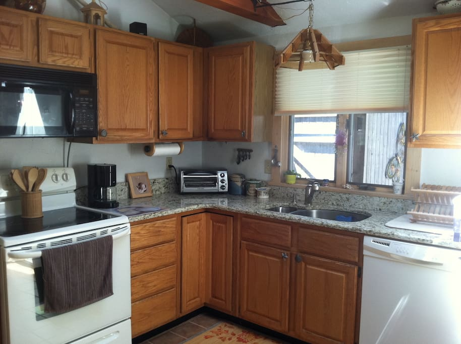 Enjoy our spotless kitchen.