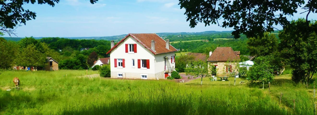 Holiday cottage surrounded by vegetation - Beauregard-de-Terrasson - Hus