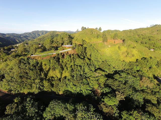 Chalet de Oro at the top of Orocovis, PR.
