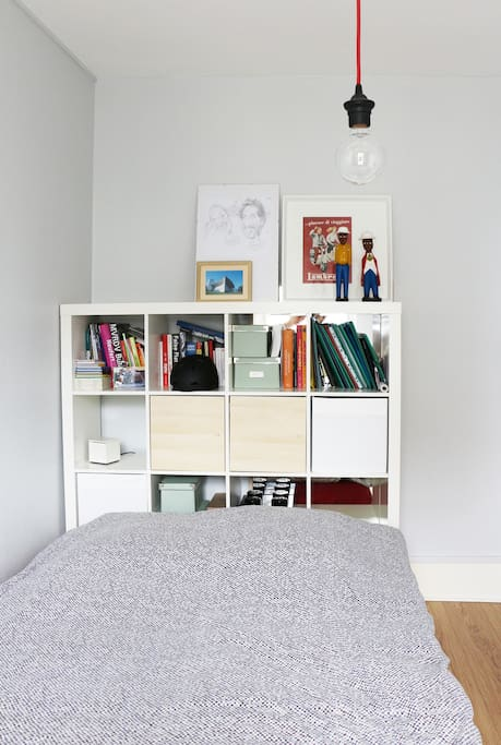 bedroom,  it's big enough to put inside an extra place to sleep - 140x200 size airbed... if not you can put it in the living room as well.