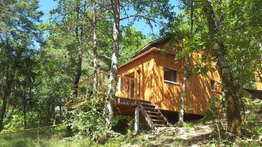 Eco-logis dans le bois proche de Montignac-Lascaux