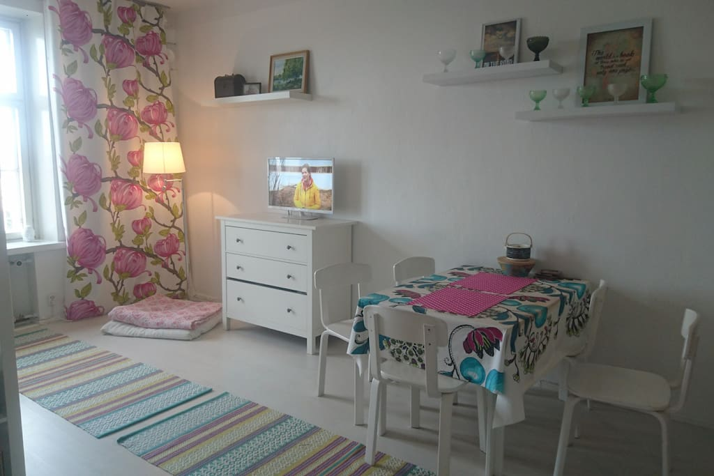 Nice and colourful studio with all amenities
