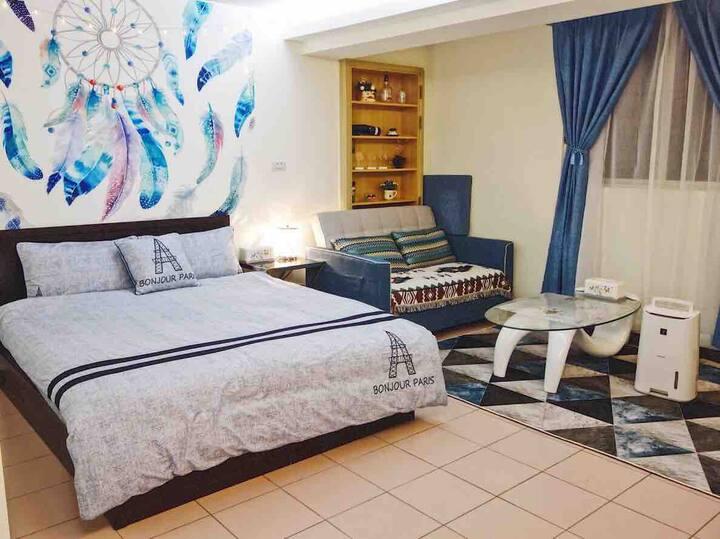 溫馨大套房藍色風采C-C Warm Blue  VIP  welcome 暖かいお部屋の青い風