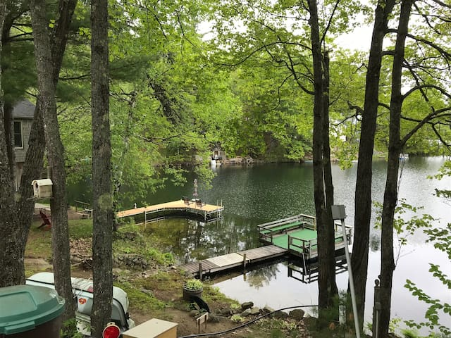View of your dock system with green carpet