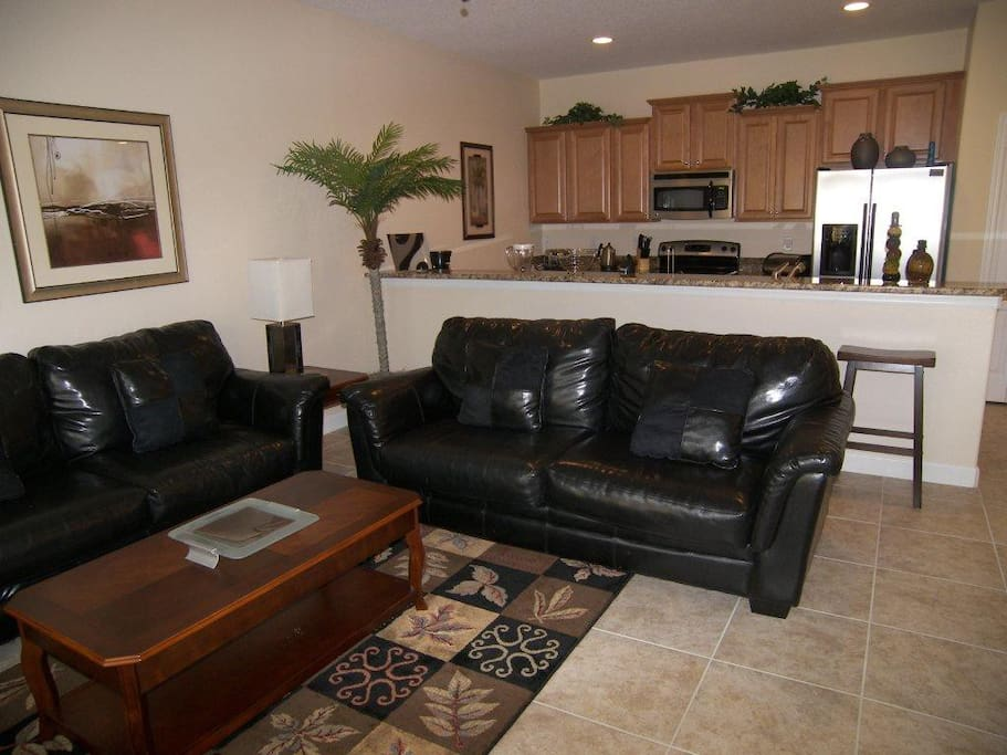 Family room with flat screen TV.
