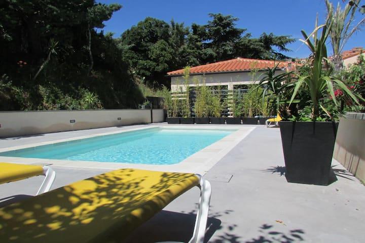 Maison 4 pers clim piscine wifi parking terrasse