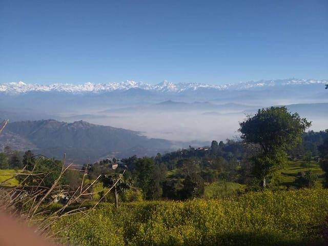 Beautiful himalayan range view.