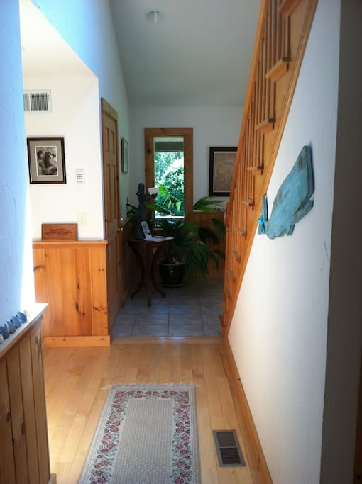 Semi private entrance and hallway.