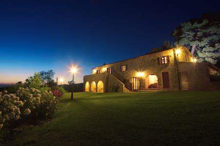 "Casale Contea ""La Quercia"" apartment pool and view"
