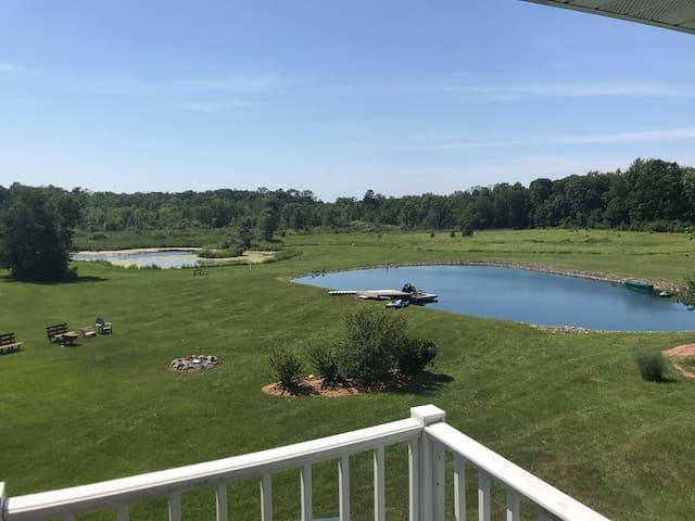 Remodeled, farm house on 37 acres-sleeps 15