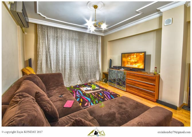 Cosy-Low Price-Central-Safety-Residental-Full Flat - Konak - Apartment