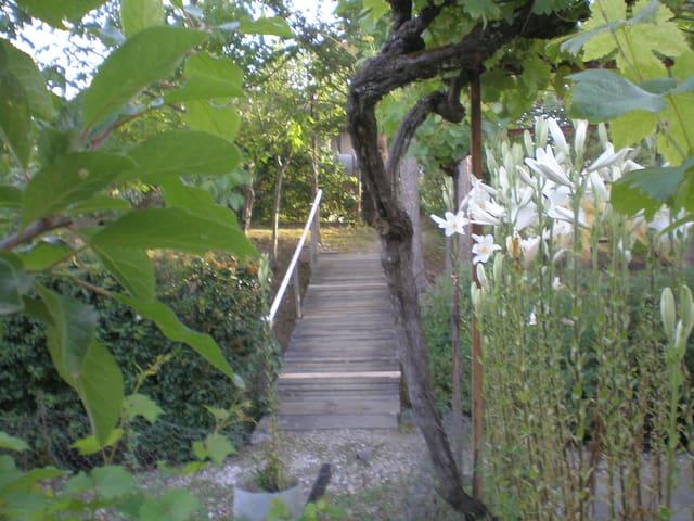 Le petit pont à emprunter pour aller petit déjeuner