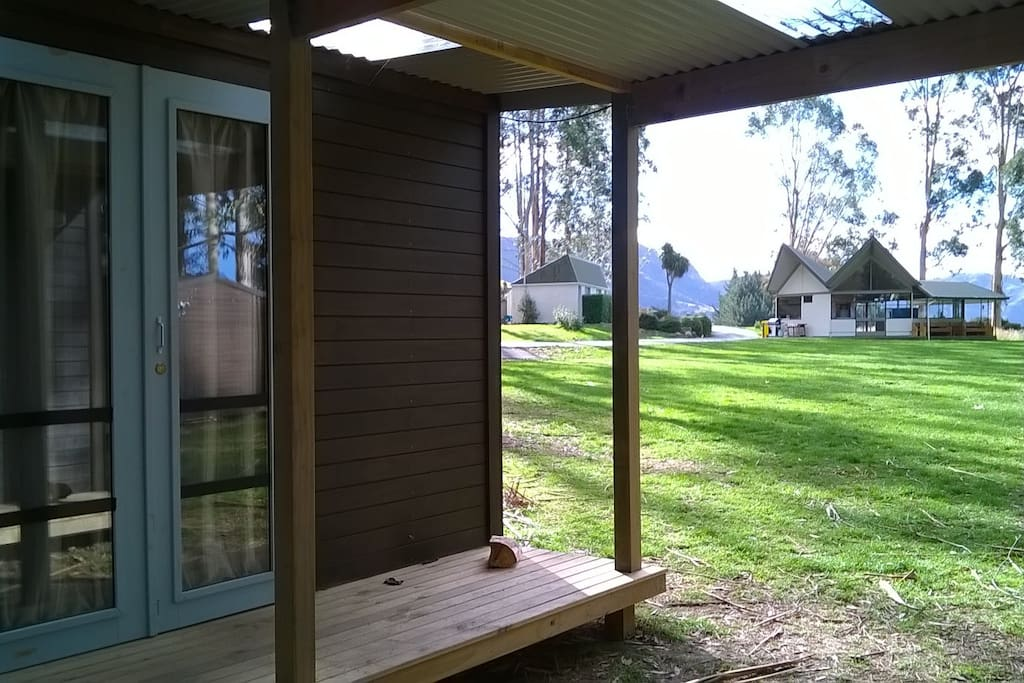 Cabin - two bunkbeds per cabin - shared toilet/shower facilities