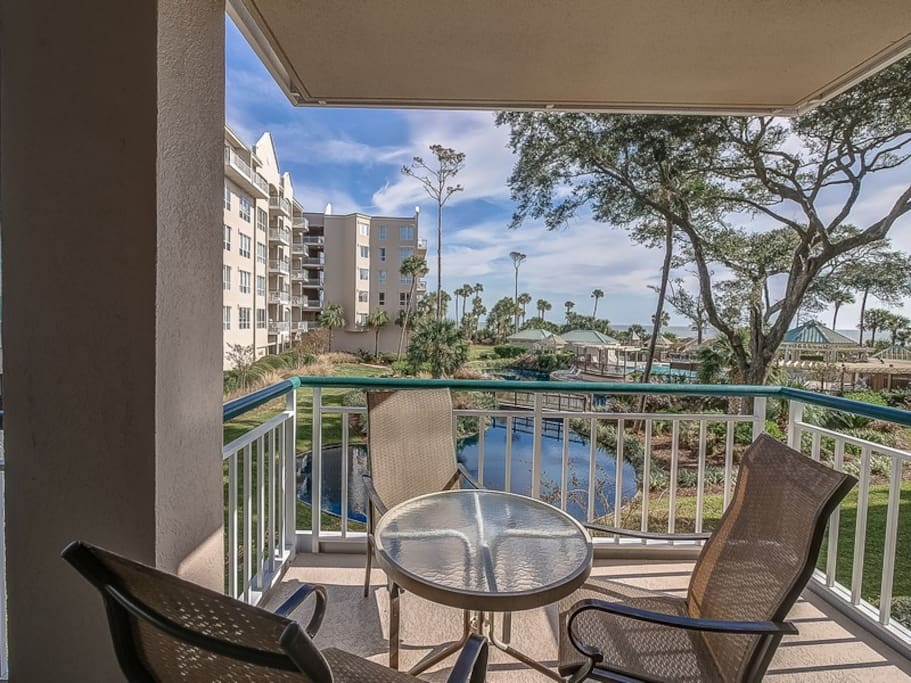 Balcony with Access from Living Room and Guest Bedroom at 3106 Windsor Court South