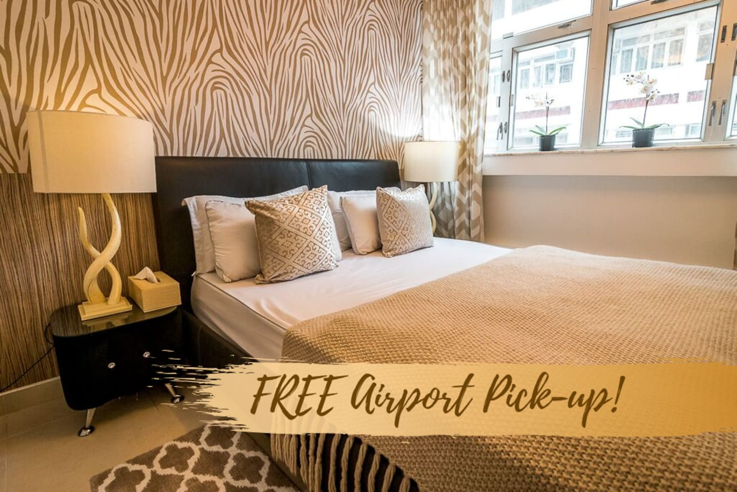 Book for a minimum of 6 nights stay within the month of October and get free Airport pick up.