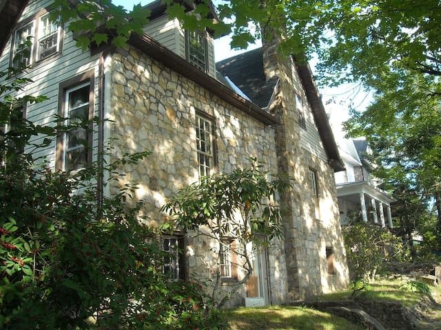Old World European Stone Home - Walk to Main St - Elkins - Ev