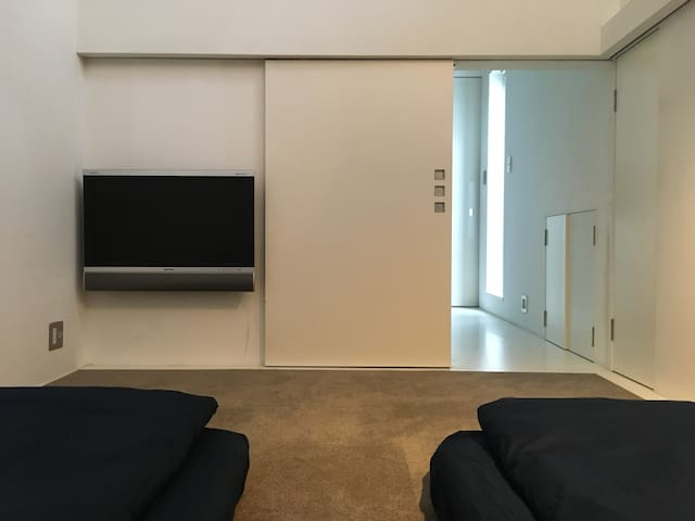 Bedroom TV, Slide door