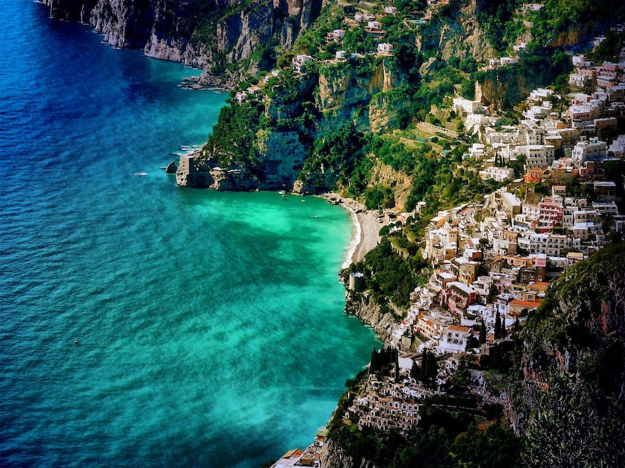 Positano amalfi coast lovely flat apartments for rent for Casa positano