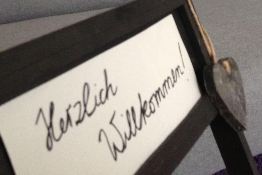 Wir heißen unsere Gäste Herzlich Willkommen