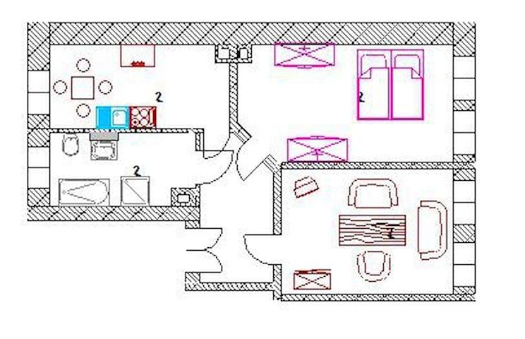 Zentrale 2 Zimmerwohnung - Lipcse - Társasház