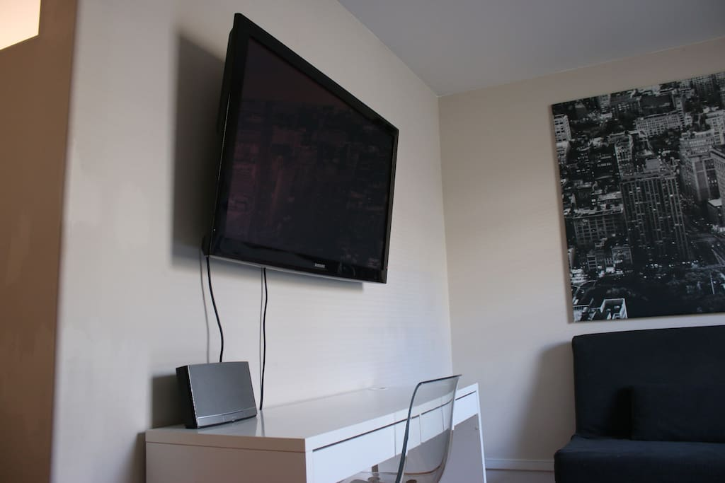 Tv with hdmi and vga for your laptop and wifi