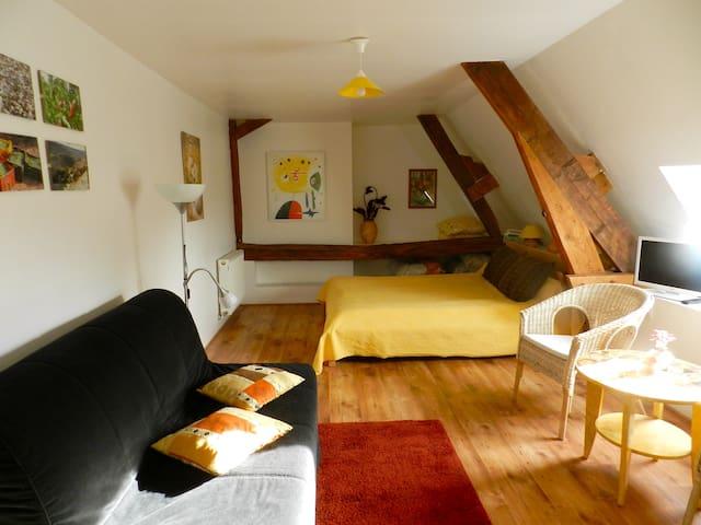 """La chambre """"Soleil"""" à Henrichemont"""