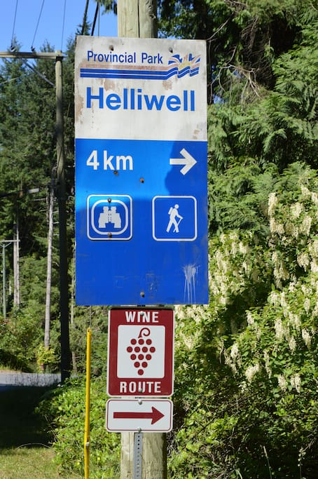 Hike around Helliwell Park or tour the Island's 4 wineries and 1 distillery.