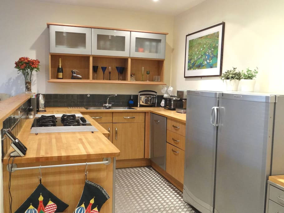 Fully equipped kitchen with high-quality appliances.