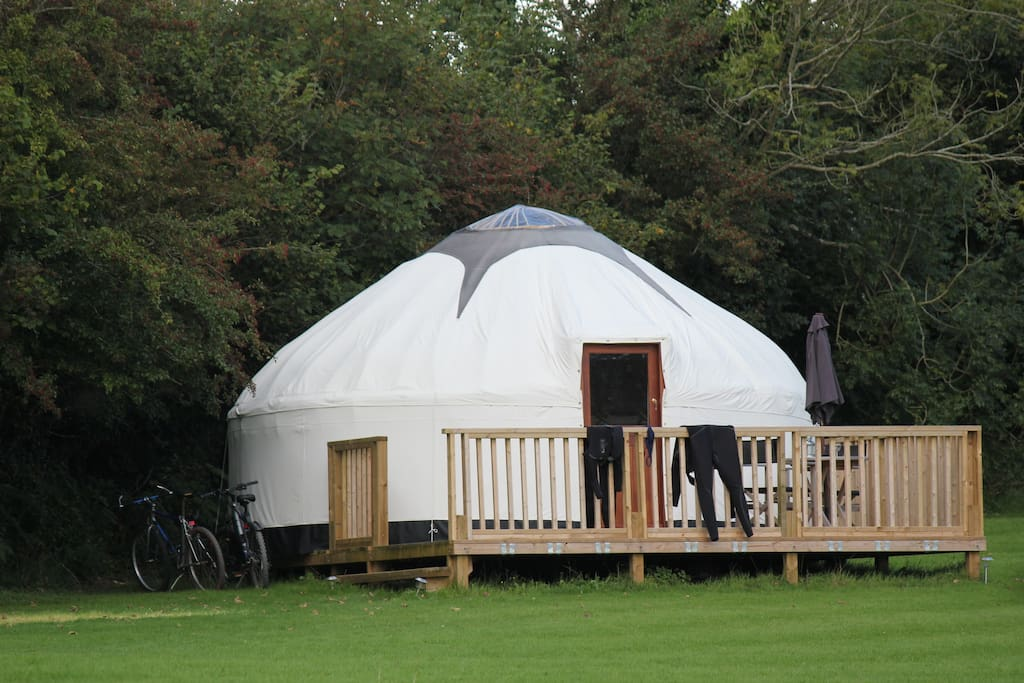 One of our three luxury yurts situated in a two acre paddock