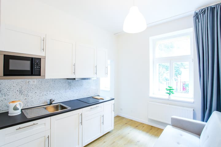 New one-bedroom apartments in the center of Prague