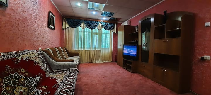 Уютная,теплая квартира на 1 этаже.