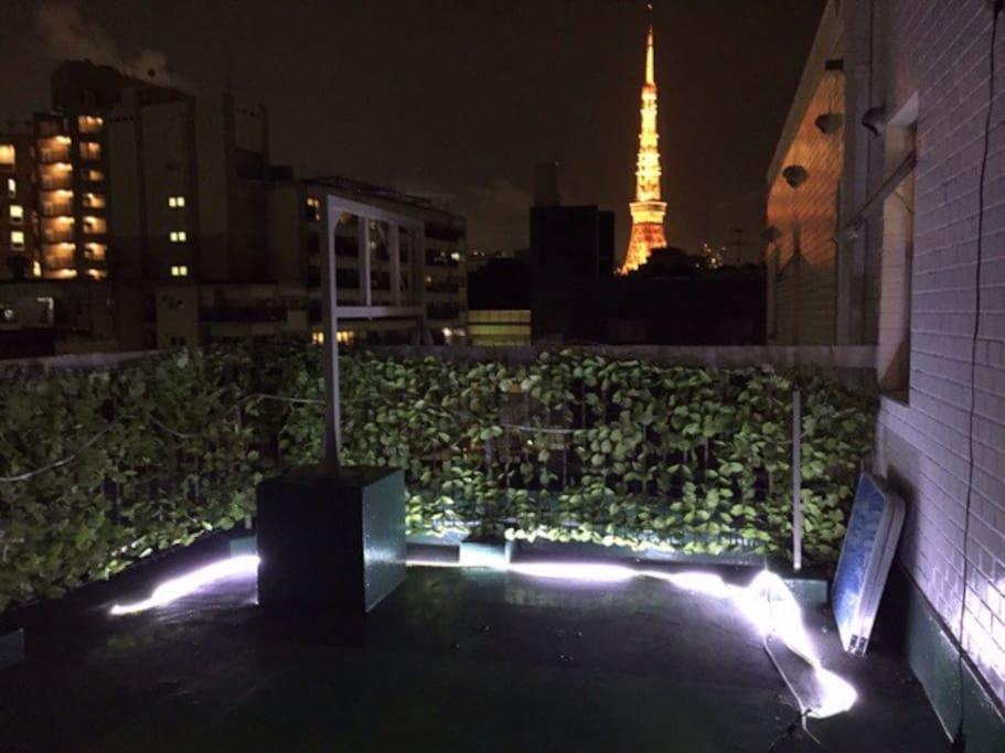 東京タワー  バルコニーから撮影
