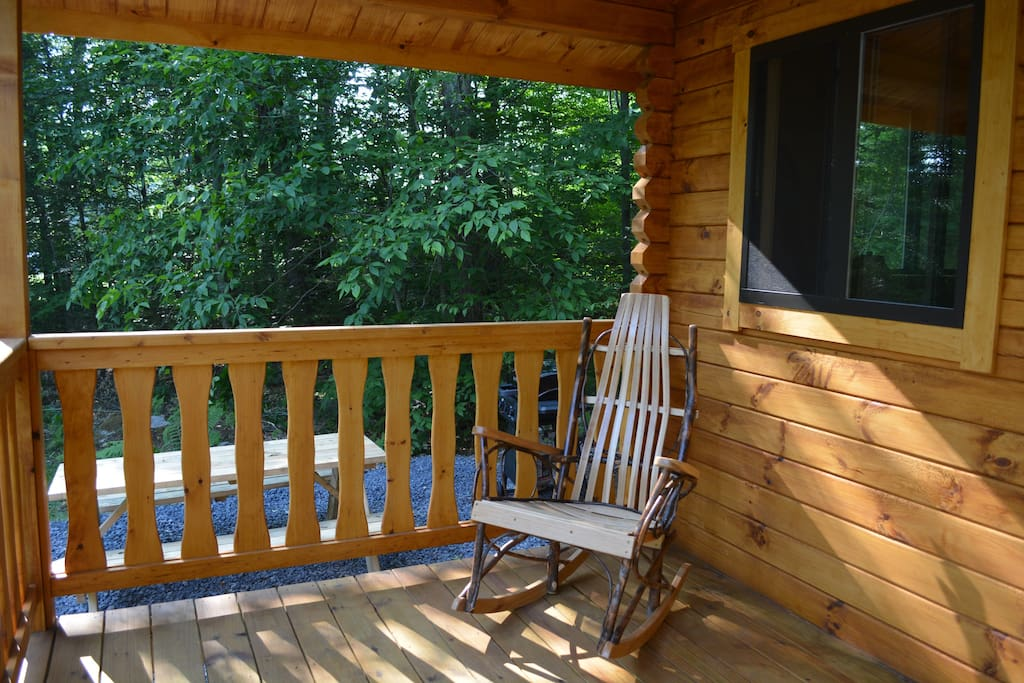 Relax on the covered porch