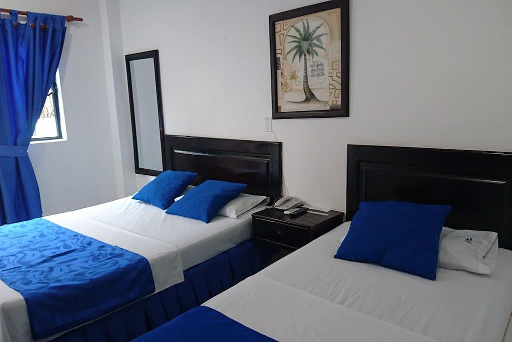 Las habitaciones Estándar cuentan con aire acondicionado y baño privado, están pensadas para ahorrar espacio brindar comodidad para que el precio sea justo para su estadía