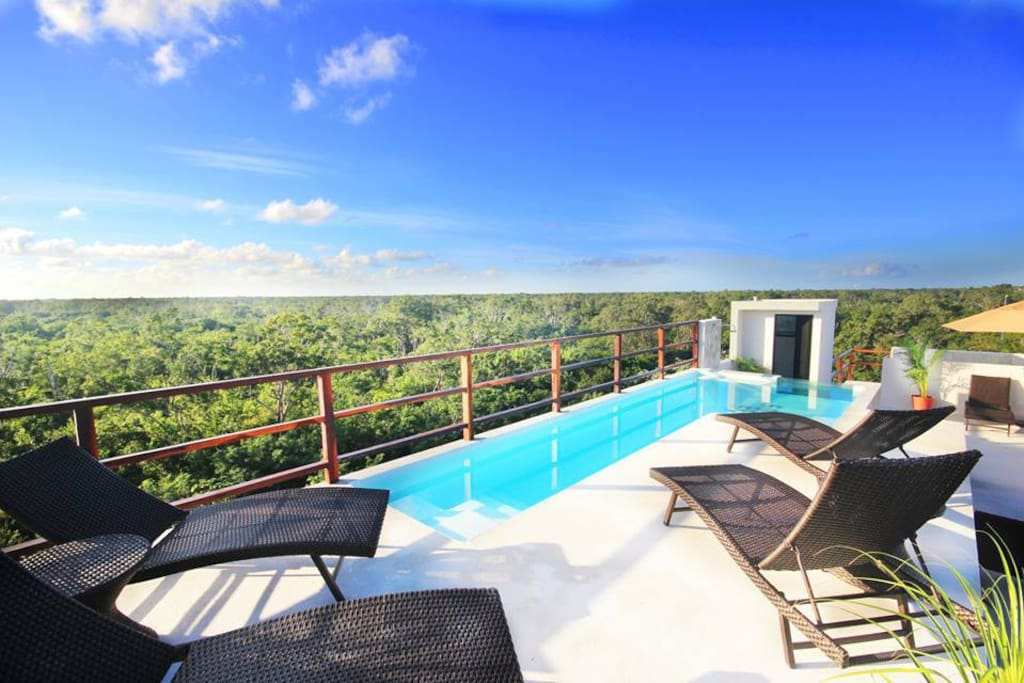 Highest rooftop pool in Tulum with amazing views