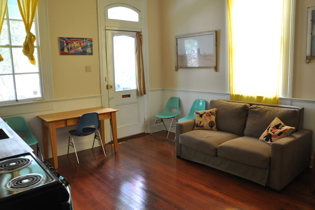 Front room with pull out sofa