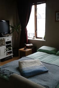My studio apartment is spacious with a very comfy bed & a shower wet room. It is on the first floor (there is a lift) and close to all that Galway has to offer. I love my space and hope that any guests who choose to stay here enjoy it as I do.