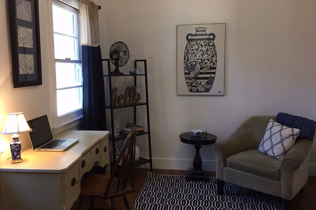 Separate office and lounge space