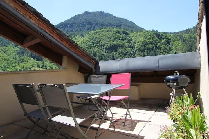 Gîte LE TOMPLE - gorges du Tarn - Ispagnac - Appartamento