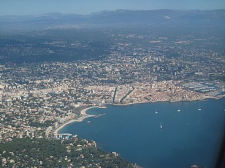 Antibes from the air.