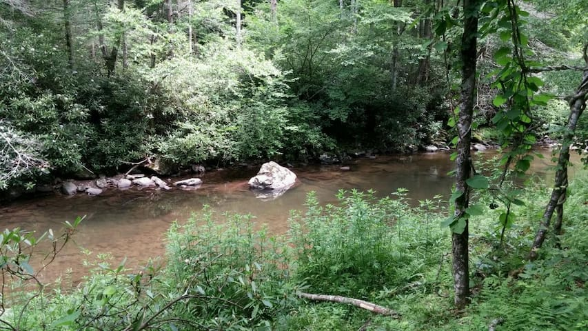 Creek on property, be sure to stay on this side of the creek. We do not own the other side.