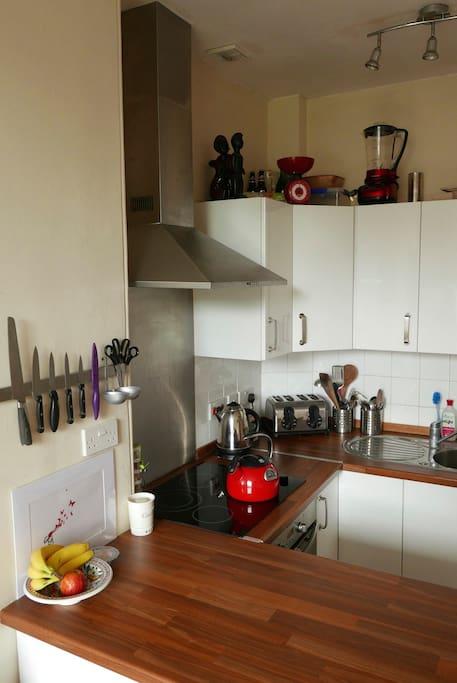 Open-plan kitchen area
