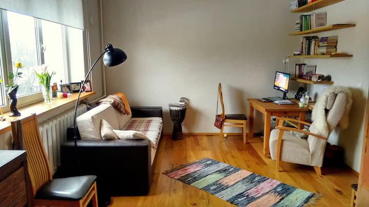 Cosy, quiet and warm flat for long-term quests!