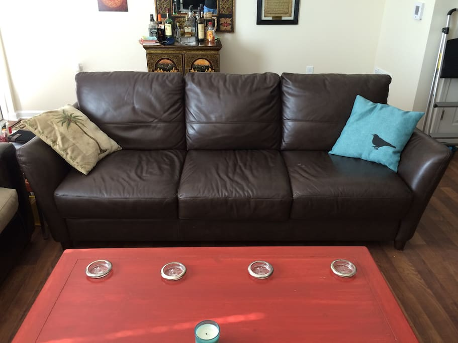 Lovely leather couch!