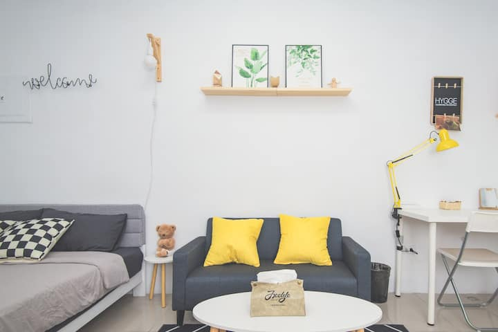 Life House-E 近園區/清大/交大/新莊火車站,背包客&差旅,面試,考試,清新舒適的好選擇