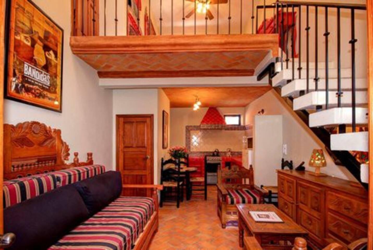 The Salma Hayek One Bedroom Loft - main level view