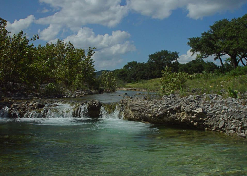 Cool off in our deep swimming hole in Patterson Creek!