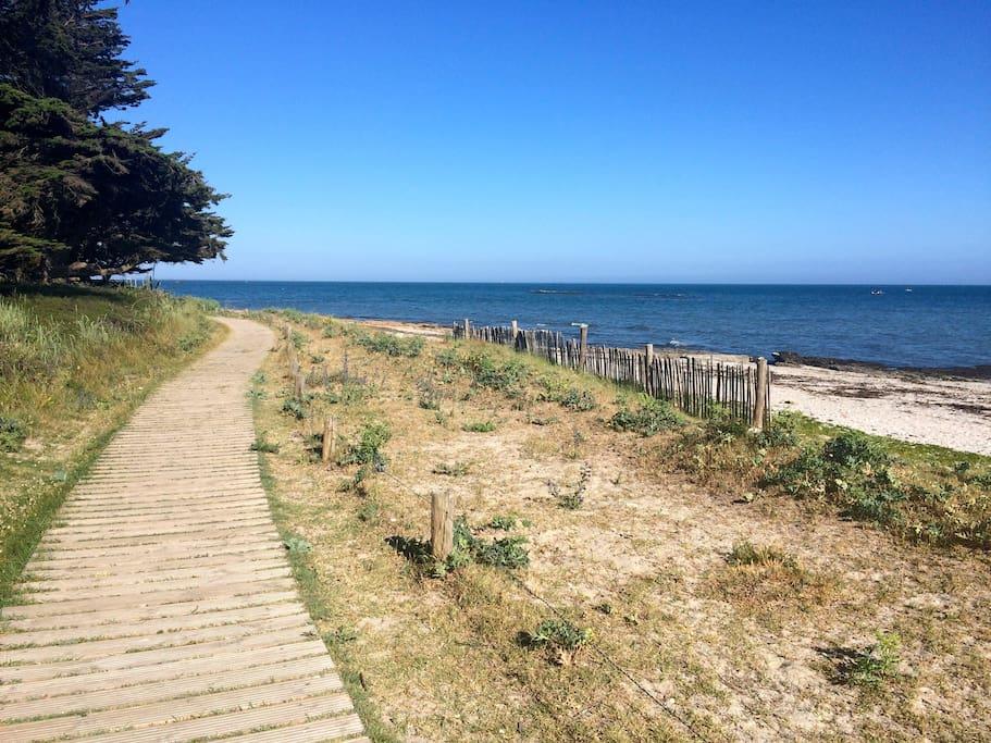 Grande ballade en bord de mer avec plages et petites criques. Idéal pour marcher et courir.